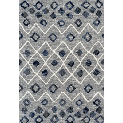 Fossen Modern Steel Gray Area Rug Rug Size: Rectangle 26 x 91