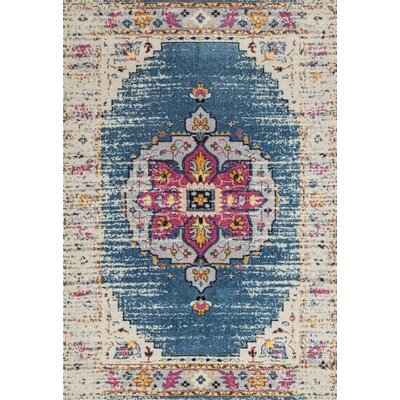 Penson Transitional Turquoise Area Rug Rug Size: Rectangle 53 x 76