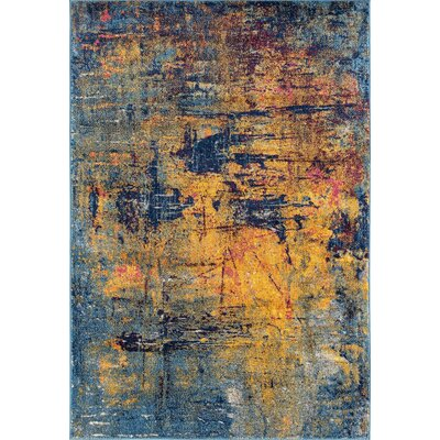Parramatta Transitional Orange/Blue Area Rug Rug Size: Rectangle 53 x 76