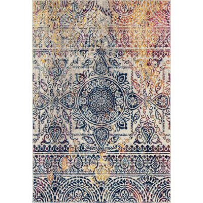 Penson Transitional Beige/Gray Area Rug Rug Size: Rectangle 53 x 76