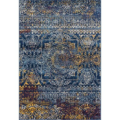 Parramatta Transitional Teal Area Rug Rug Size: Rectangle 76 x 96