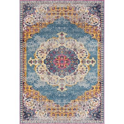 Penson Transitional Blue Area Rug Rug Size: Rectangle 76 x 96