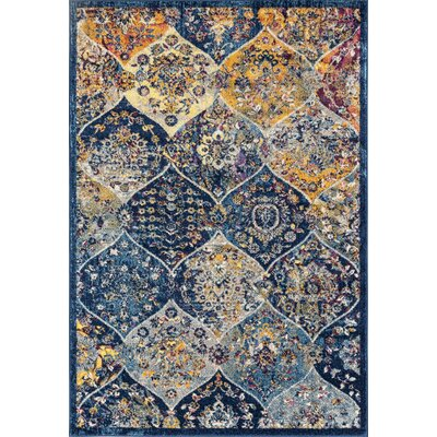 Parramatta Transitional Blue Area Rug Rug Size: Rectangle 26 x 6