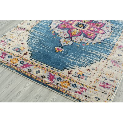 Penson Transitional Turquoise Area Rug Rug Size: Square 66 x 66
