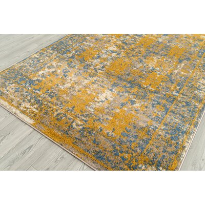 Penton Transitional Yellow/Blue Area Rug Rug Size: Square 67 x 67