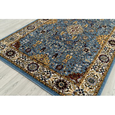 Parrett Transitional Sky Blue Area Rug Rug Size: Square 67 x 67