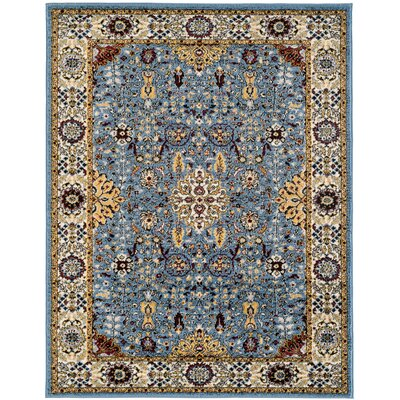 Parrett Transitional Sky Blue Area Rug Rug Size: Rectangle 51 x 76