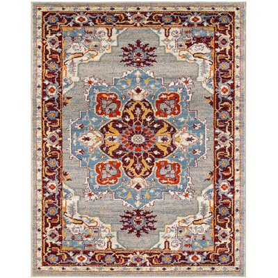 Penton Transitional Gray/Blue Area Rug Rug Size: Rectangle 26 x 103