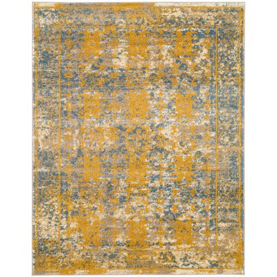 Penton Transitional Yellow/Blue Area Rug Rug Size: Rectangle 89 x 119