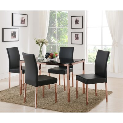 Heiden Metal Frame Upholstered Dining Chair