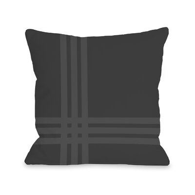 Billington Sand Outdoor Throw Pillow Color: Charcoal