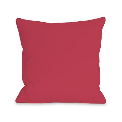 Bilderback Outdoor Throw Pillow Color: Rose