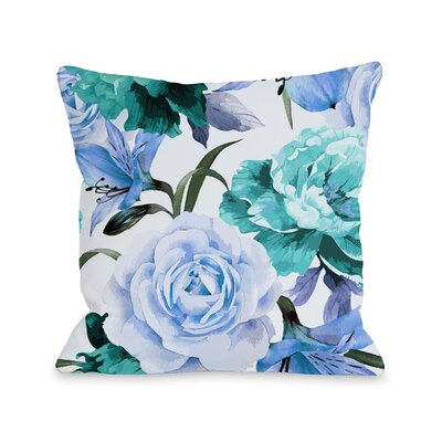 Willey A Floral Afternoon Periwinkle Outdoor Throw Pillow Color: Periwinkle