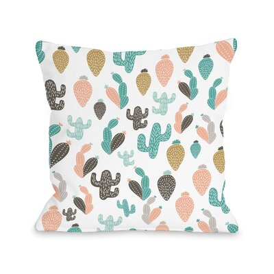Downey Cactus Friends Outdoor Throw Pillow Size: 16 x 16