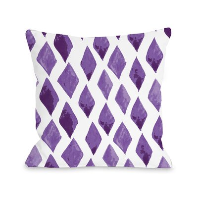 Hawkin Purple Outdoor Throw Pillow Size: 18 x 18