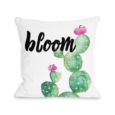 Downie Bloom Outdoor Throw Pillow Size: 16 x 16