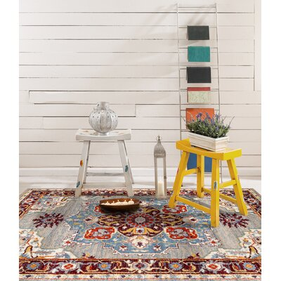 Penton Transitional Gray/Blue Area Rug Rug Size: Square 67 x 67