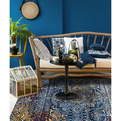 Parramatta Transitional Teal Area Rug Rug Size: Square 66 x 66