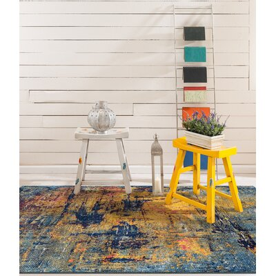 Parramatta Transitional Orange/Blue Area Rug Rug Size: Square 66 x 66