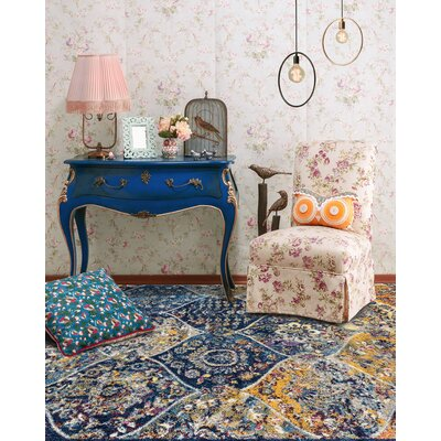 Parramatta Transitional Blue Area Rug Rug Size: Square 66 x 66