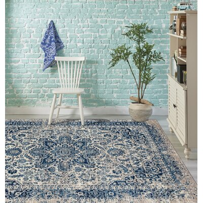 Penson Transitional Blue Area Rug Rug Size: Runner 26 x 6
