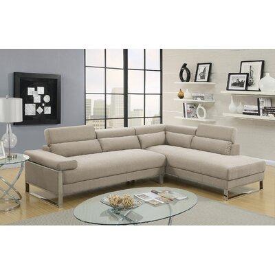 Strobel Sectional Upholstery: Beige