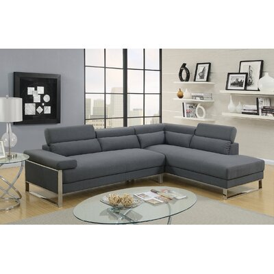 Strobel Sectional Upholstery: Charcoal