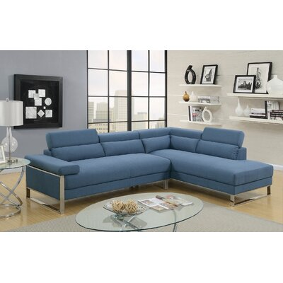 Strobel Sectional Upholstery: Blue