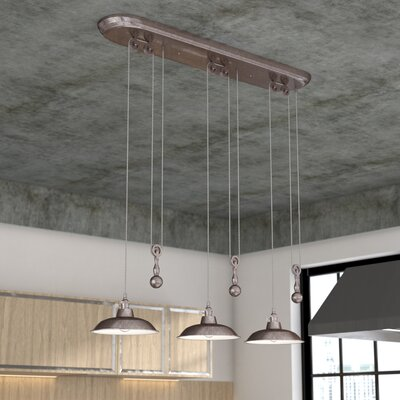 Ariel 3-Light Kitchen Island Pendant Finish: Tarnished Silver