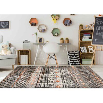 Mantz Modern Gray Area Rug Rug Size: Rectangle 21 x 31