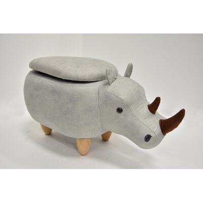 Hoefer Rhino Animal Storage Ottoman Upholstery: Storm Gray Suede