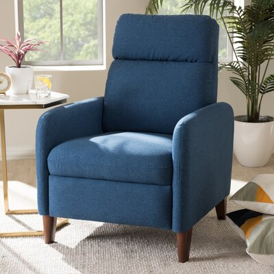 Chmura Manual Recliner Upholstery: Blue