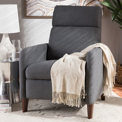 Chmura Manual Recliner Upholstery: Gray
