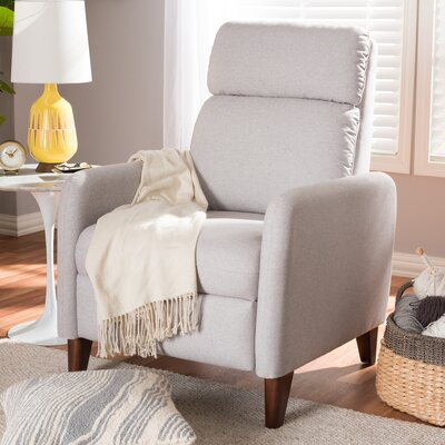 Chmura Manual Recliner Upholstery: White