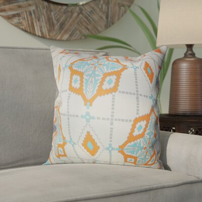 Delane Geometric Cotton Throw Pillow Color: Mandarin, Size: 18 x 18