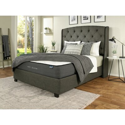 Chenery Upholstered Panel Bed with Mattress Size: California King, Color: Gray