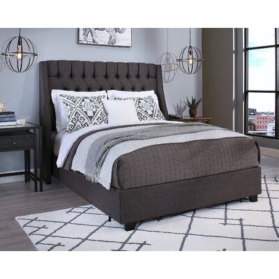Difranco Upholstered Panel Bed with Mattress Size: King, Color: Gray