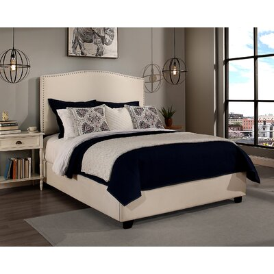Almodovar Upholstered Panel Bed with Mattress Size: Queen, Color: Ivory