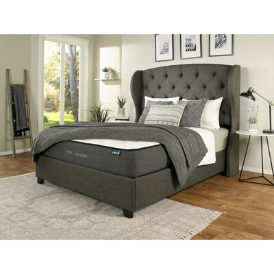 Sornson Upholstered Panel Bed with Mattress Size: California King, Color: Gray