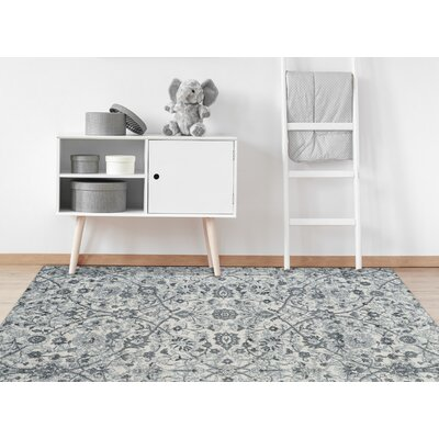 Honig Transitional Light Blue Area Rug Rug Size: Round 67 x 67