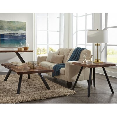 Crissman Live Edge 3 Piece Coffee Table Set