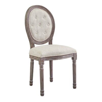 Vibbert French Upholstered Dining Chair Upholstery: Beige