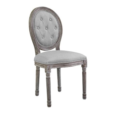 Vibbert French Upholstered Dining Chair Upholstery: Light Gray
