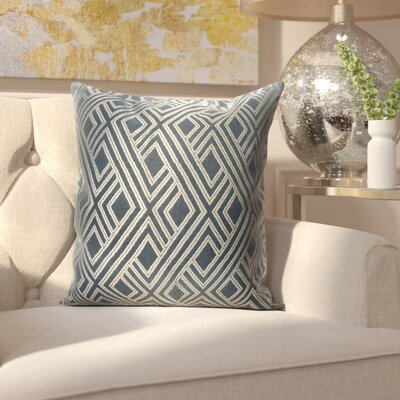 Mccourt Indoor/Outdoor Throw Pillow Color: Integrated Indigo, Size: 24 x 24