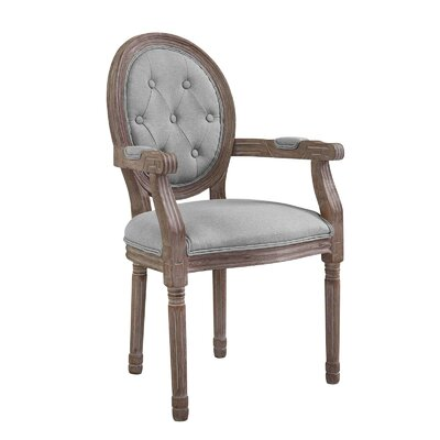 Vibbert Vintage French Upholstered Dining Chair Upholstery: Light Gray