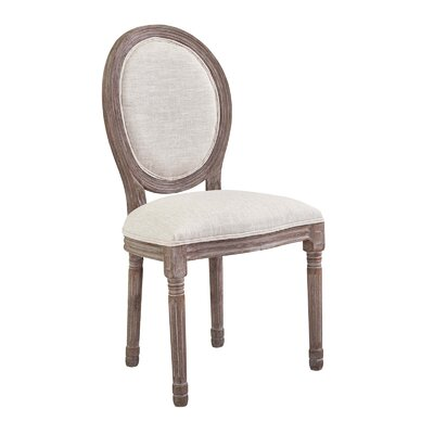 Vicente French Upholstered Dining Chair Upholstery: Beige