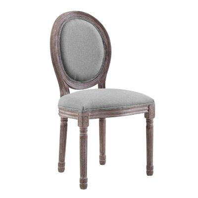 Vicente French Upholstered Dining Chair Upholstery: Light Gray