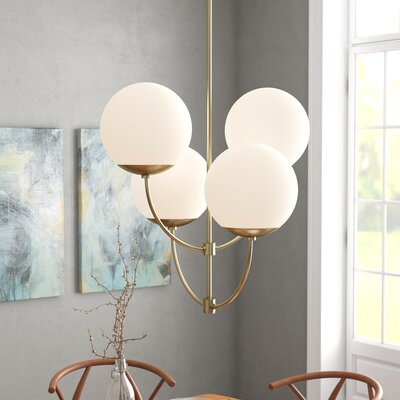 Osvaldo 4-Light Chandelier Finish: Aged Brass