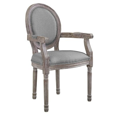 Vicente Vintage French Upholstered Dining Chair Upholstery: Light Gray
