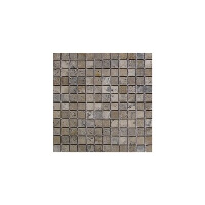 Philadelphia 1 x 1 Travertine Mosaic Tile in Dark Gray
